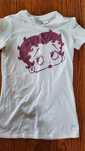 White Betty Boop top